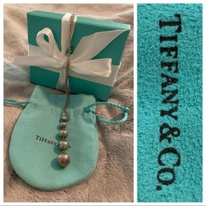 """Tiffany & Co Sterling 16"""" Graduated Ball Necklace"""